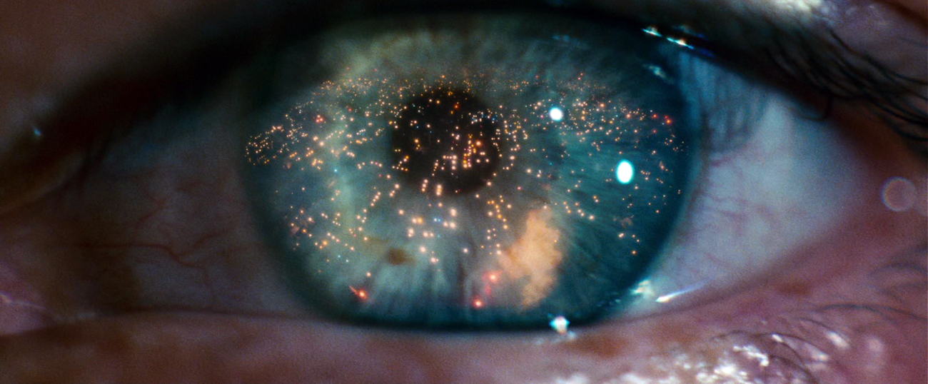 Dr. Dave Bowman's (Keir Dullea) eye in Kubrick's 2001: A Space Odyssey – courtesy MGM