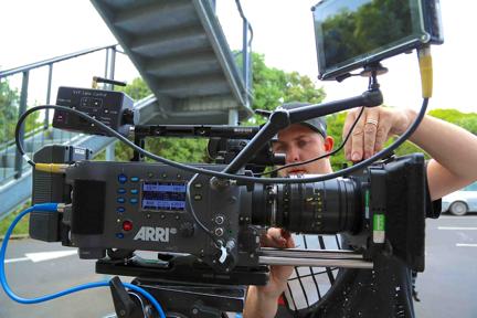 AC Sam Matthews preps at Niche HQ for TV drama series Agent Anna