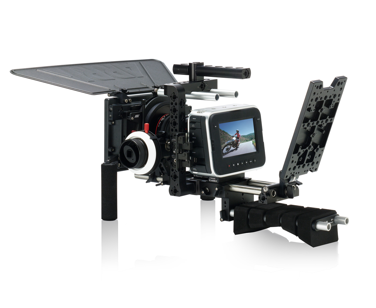 Blackmagic Design Cinema Camera, with ARRI Pro camera accessories
