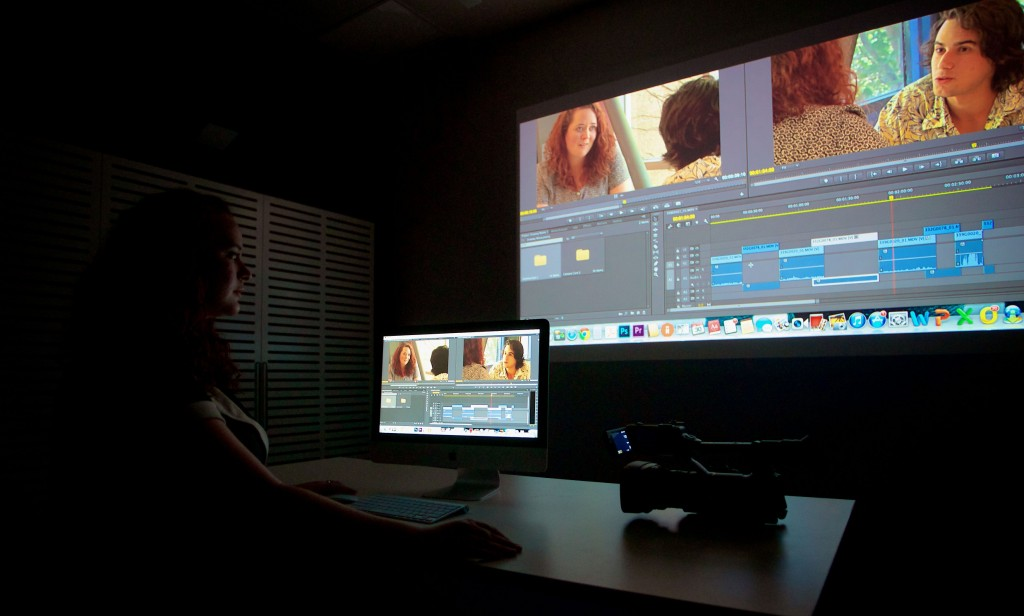 Student editing their project in the ISA Edit Suite