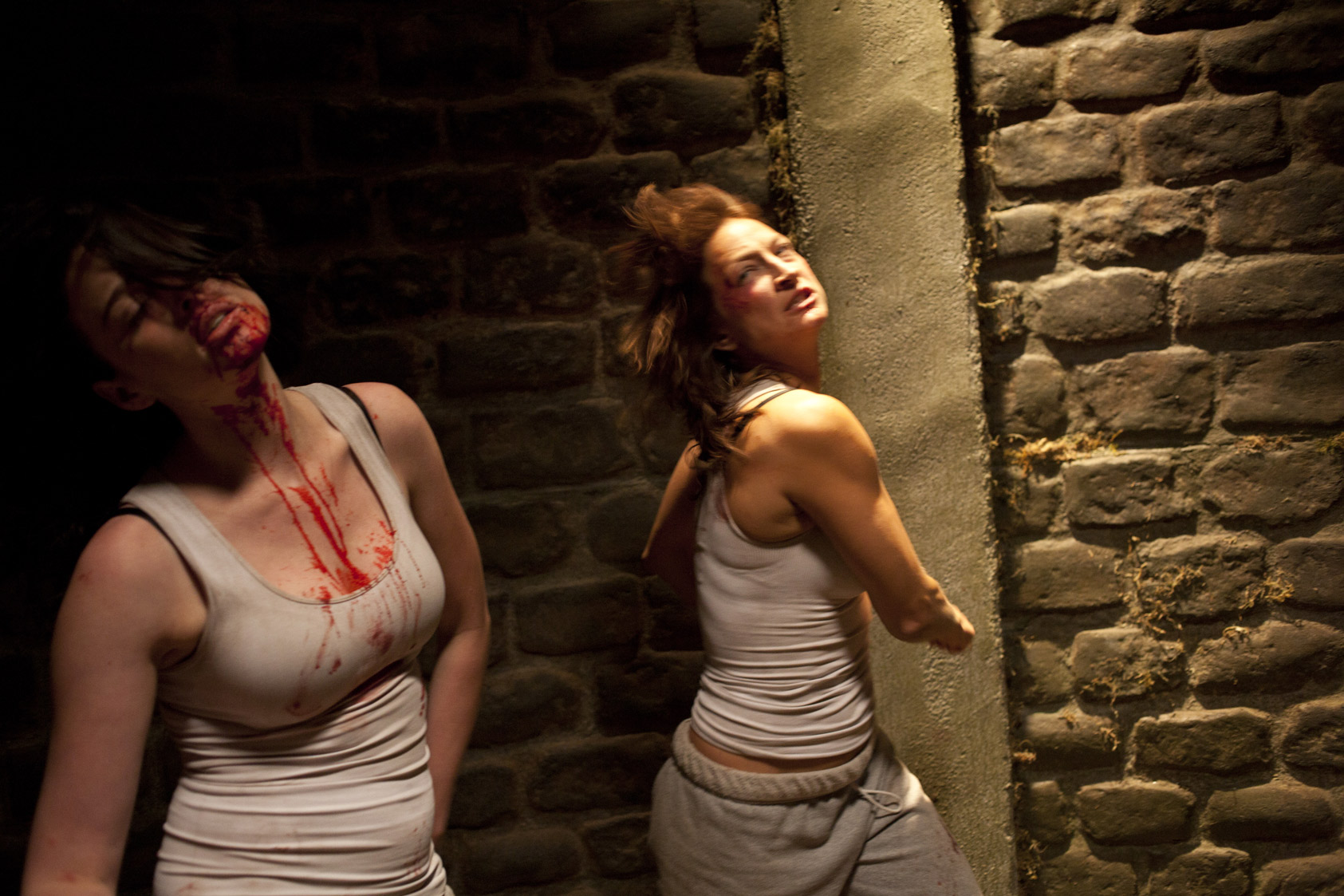 "Zoë Bell in Josh C. Waller's ""Raze,"" which depicts an underground lair in which abducted women have no choice but to fight each other to the death (copyright Cinipix)"