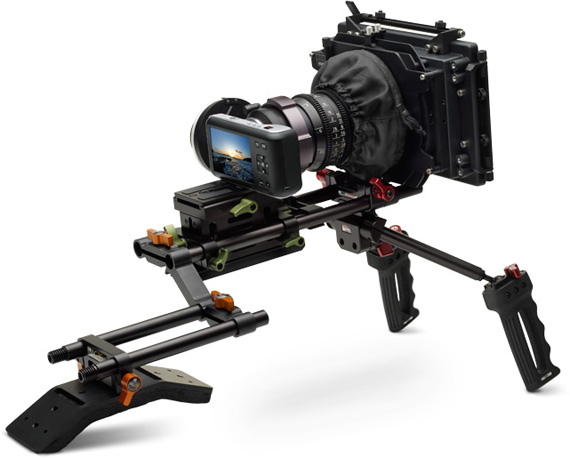 Blackmagic Pocket Cinema Camera with ARRI accessories