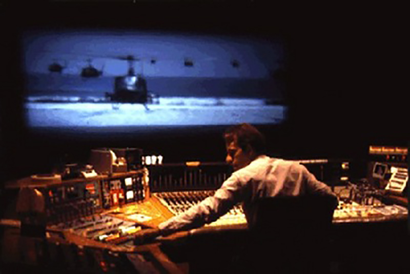 Walter Murch working on the sound design of 'Apocalype Now'.