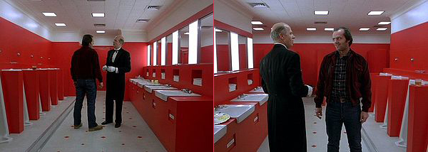 Kubrick crossed the 180º line many times through out 'The Shining'