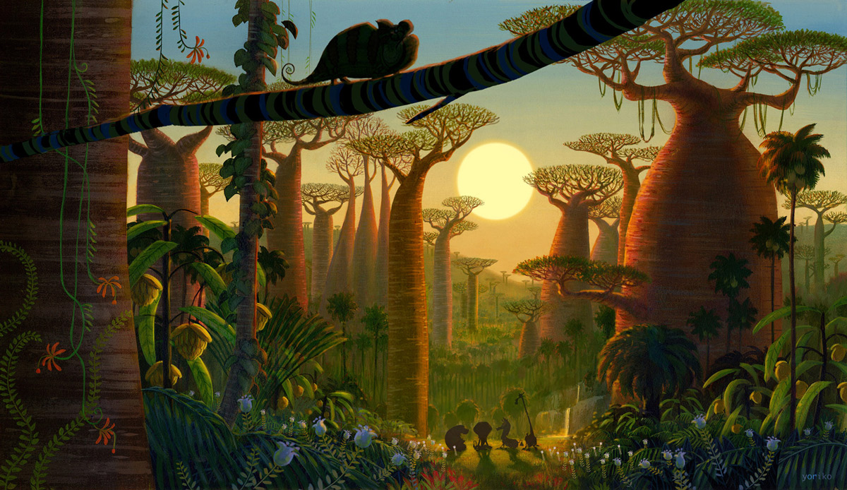 Dreanworks Madagascar – artwork by Yoriko Ito