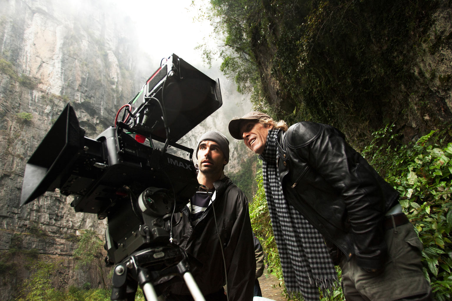 Michael Bay shooting with the IMAX 3D camera on 'Transformers: Age of Extinction' (image copyright of Paramount Pictures)