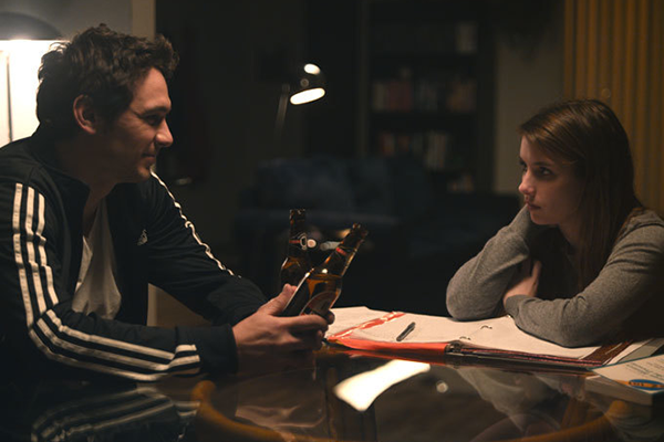 James Franco & Emma Roberts in a scene from  'Palo Alto'