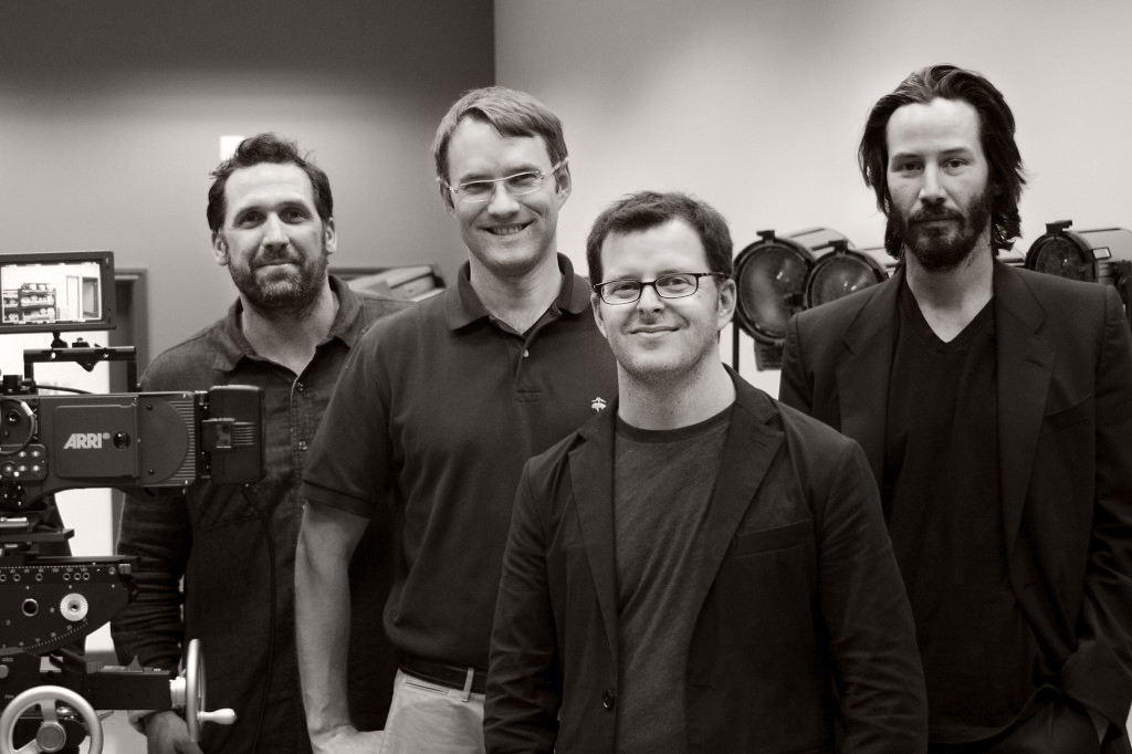 Left to right: director of photography Chris Cassidy, producer Justin Szlasa, director Chris Kenneally, producer/narrator Keanu Reeves