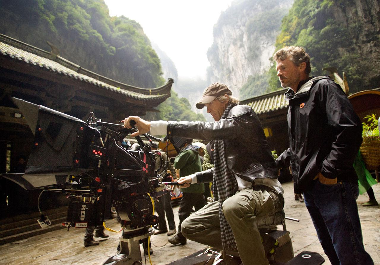 Michael Bay shooting 'Transformers: Age of Extinction in China (image copyright of Paramount Pictures)