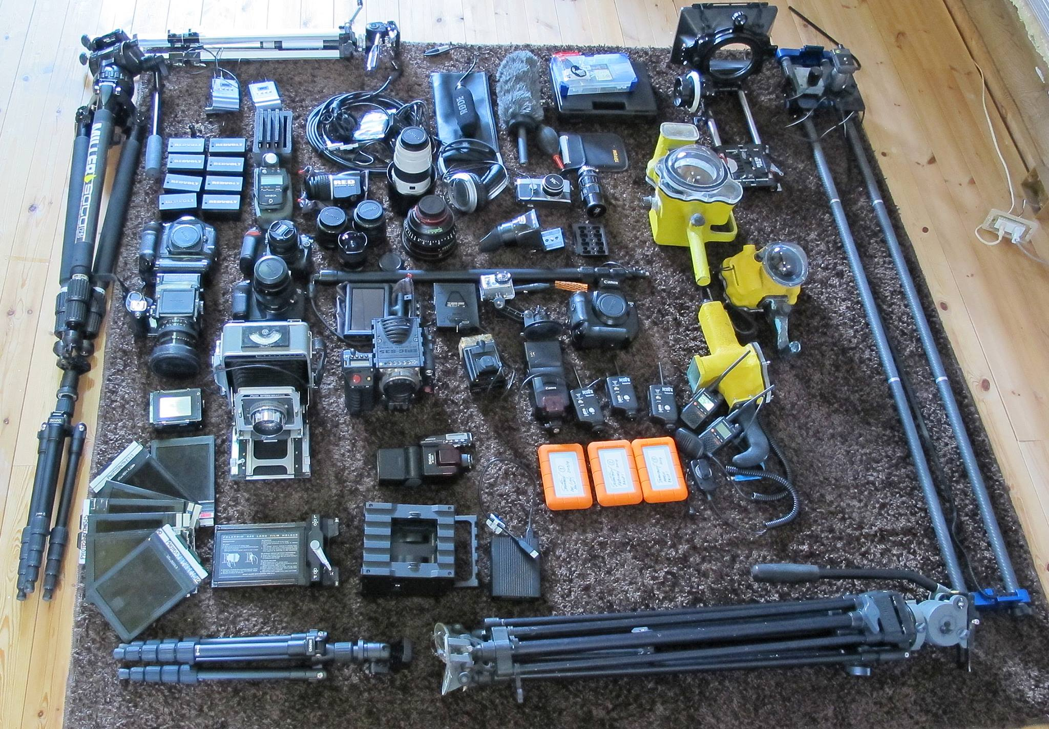 Some of Shanes equipment (image: Shane Peel/Facebook)