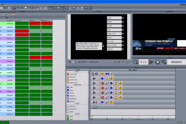 Maestro playout interface