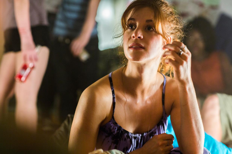 Shannon Ashlyn as 'Katarina' in a backpacker hostel from the film 'Wolf Creek 2'