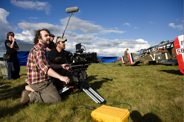 Peter Jackson on the set of 'The Hobbit' [image: RED)