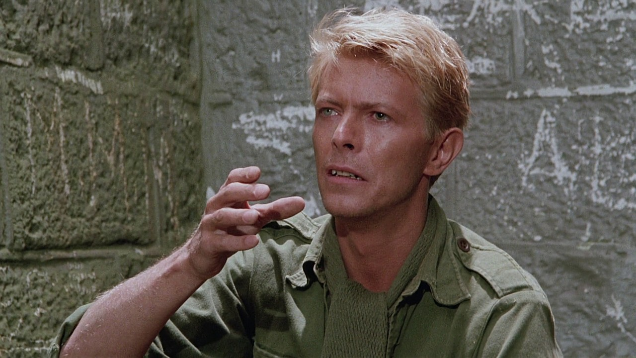 Bowie in a scene from 'Merry Christmas Mr Lawrence' (1983)