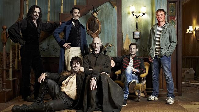New Zealand's Jemaine Clement (from 'Flight of the Conchords' - top far left)  and Taika Waititi star in 'What We Do In the Shadows'.