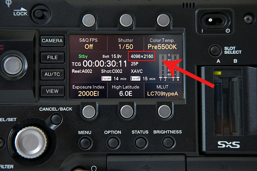 F5 side panel showing it's current recording dimensions (image: ExtraShot).