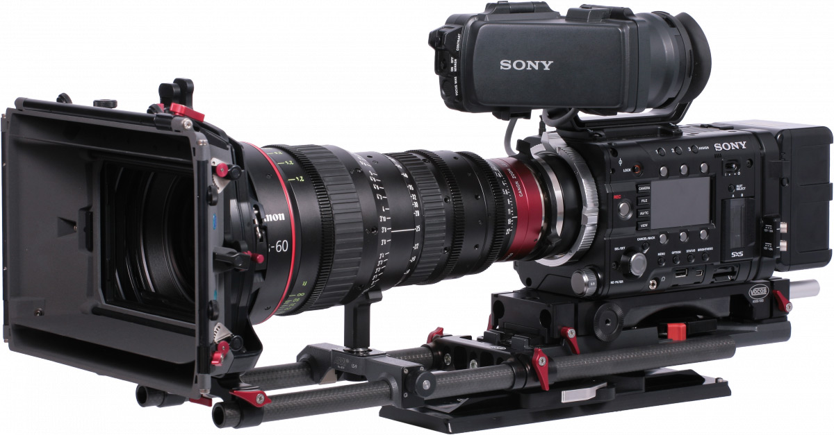 Sony F5 with the Vocas BP-19, 19mm balance plate