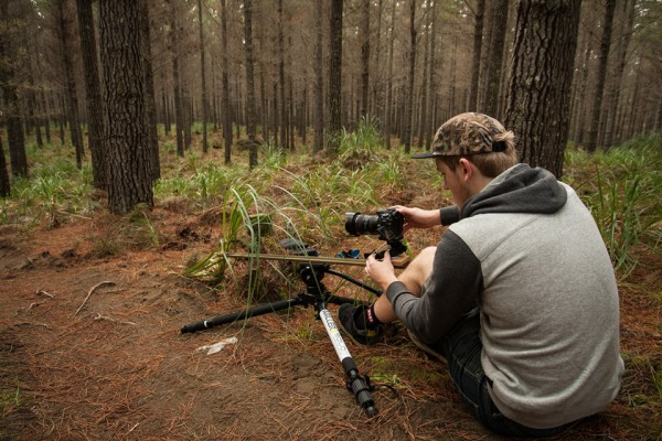 John Colthorpe Shooting with Miller Air Tripod System (image:  Cameron Mackenzie).