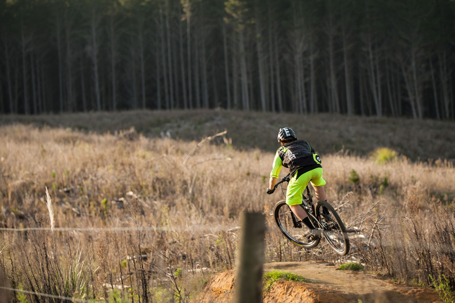 Mountain Biker Tom Fox in 'Woodhill Rush'. (image: Cameron Mackenzie)