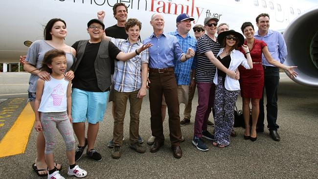 Modern Family cast visiting Australia (image: Jamie Hanson).