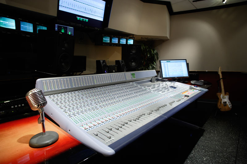 MPS voice-over recording room's console.