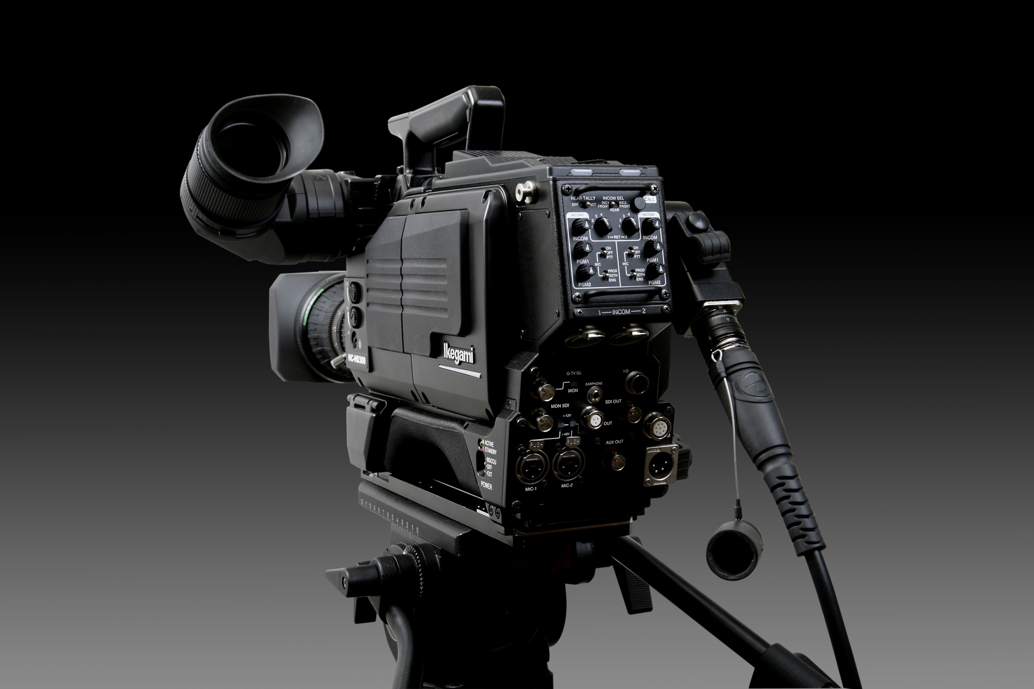 Ikegami HC-HD300 camera rear