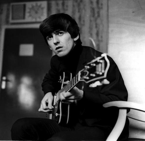 George Harrison back in his Beatle days.