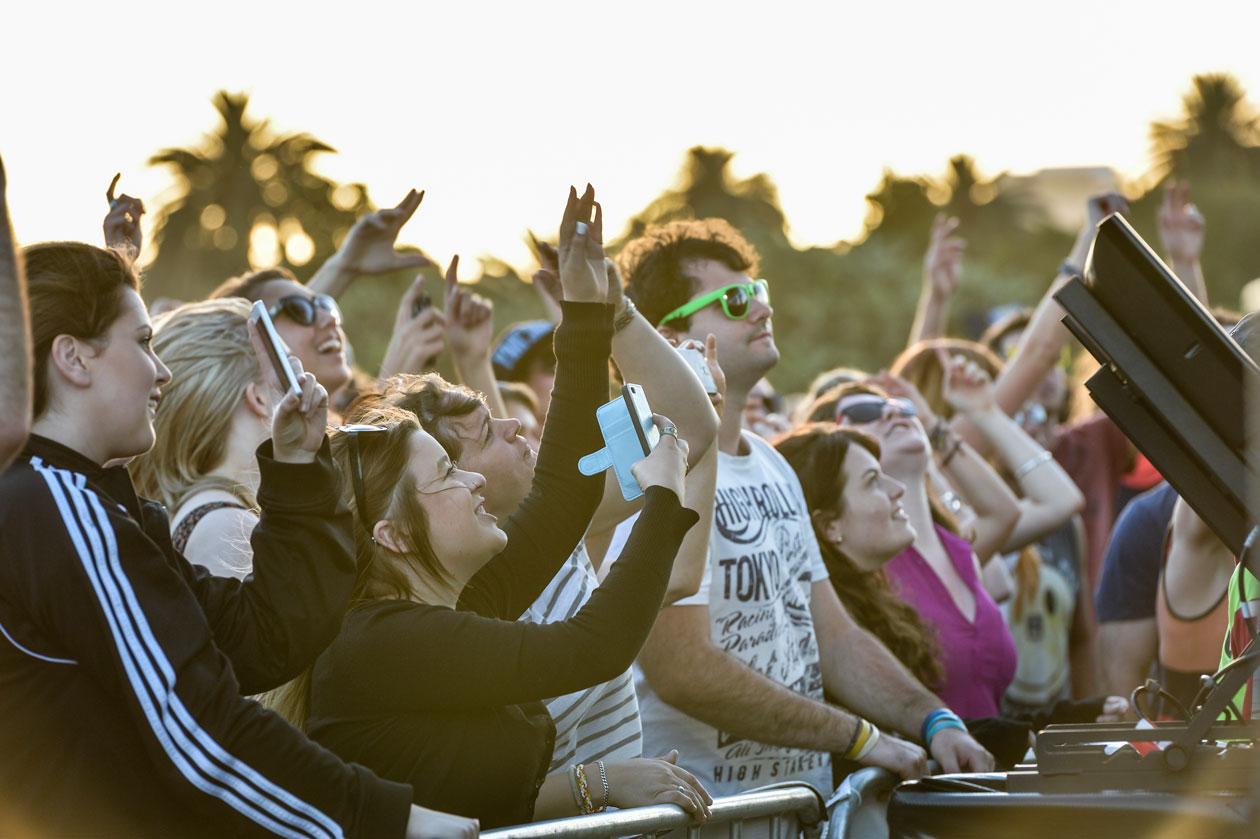 Tropfest festival goers, watching films at Sydney's Centennial Park (image: courtesy of Tropfest).