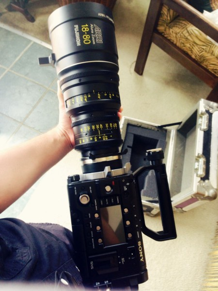 Sony F55 with an Alura lens (image © Monarex).