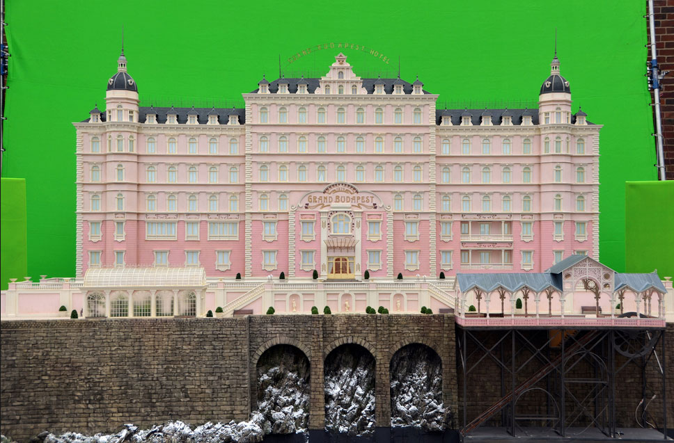 Exterior set of the Grand Budapest Hotel (image: courtesy of Fox Searchlight Pictures).