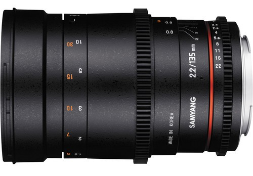 Samyang 135mm T2 side