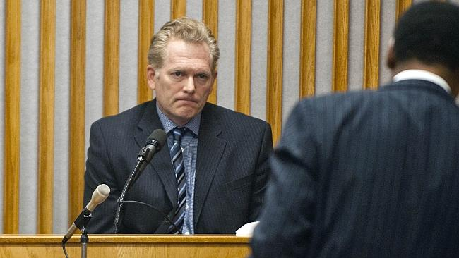 Randall Miller takes the stand, during his trial in the death of Sarah Jones (Image: AP).