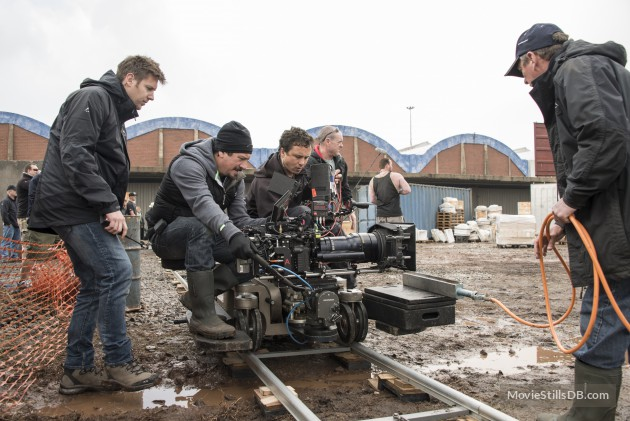 Director Neill Blomkamp and crew shooting on the RED Epic (image: Sony Pictures).