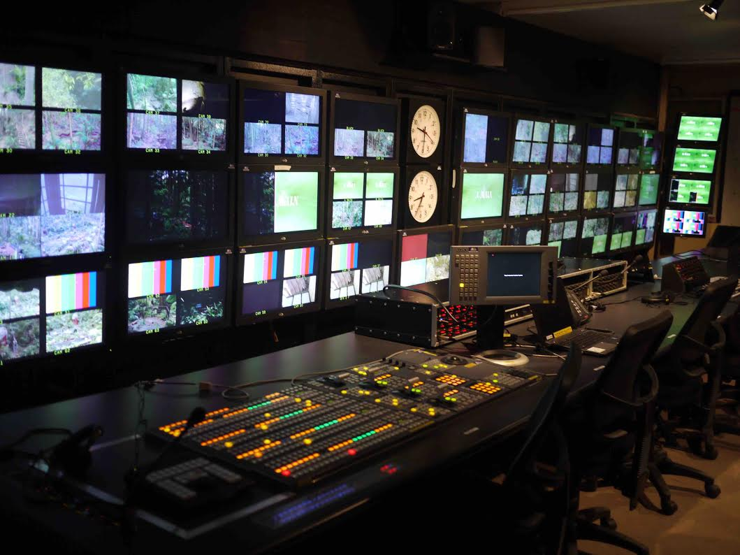 Gearhouse control room on the set of the Australian version of 'I'm a Celebrity…Get Me Out of Here!'