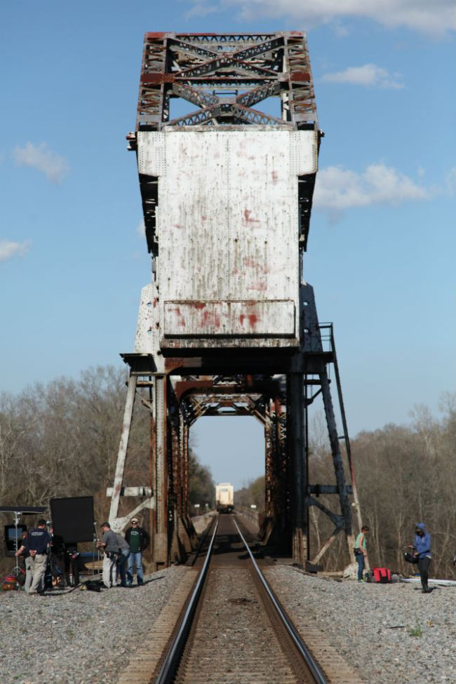 The trestle bridge set of 'Midnight Rider' (image: ABC News).