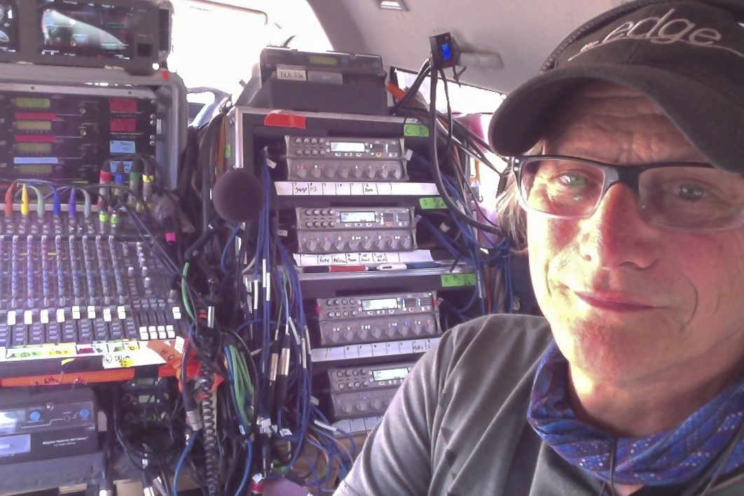 Ben Osmo looking relaxed in the Osmotron production pursuit van.