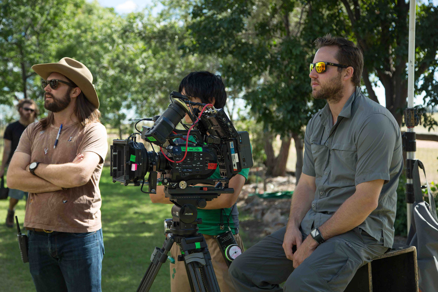 Sony FS7 cameras on the set of 'The Pretend One' (image supplied).