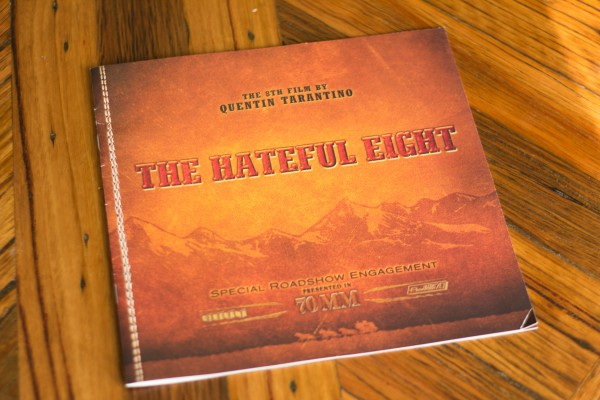 The Hateful Eight  companion program that came with the 70mm roadshow screening.
