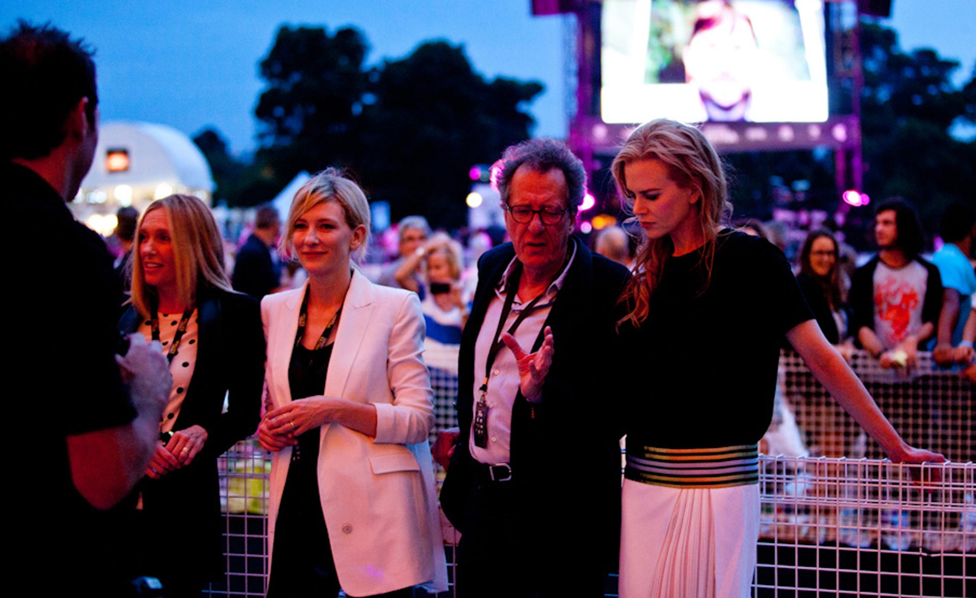 Tropfest 2014 judging panel L-R, Toni Colette, Cate Blanchett, Nicole Kidman and Jeffrey Rush (image: Supplied).