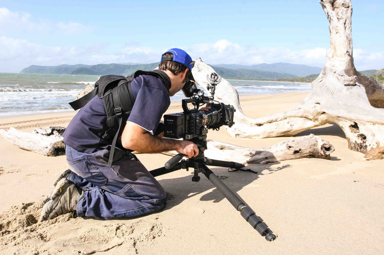The Sony PMW-F55 CineAlta 4K camera being used by Gavin Rawlings on the 'LowRange' TV series across Australia (image: Supplied).