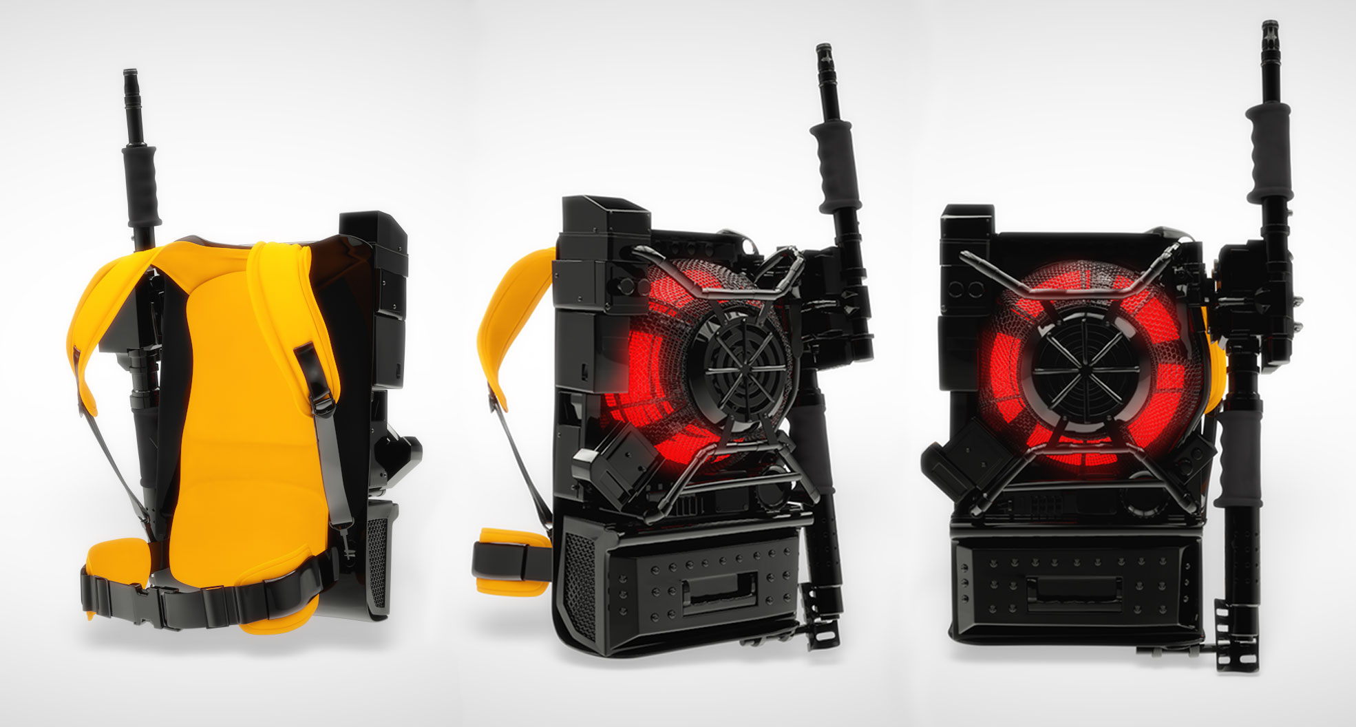 Everything a modern girl could ever want to protect herself from being slimed. The new Ghostbusters Proton Pack props (image: supplied).