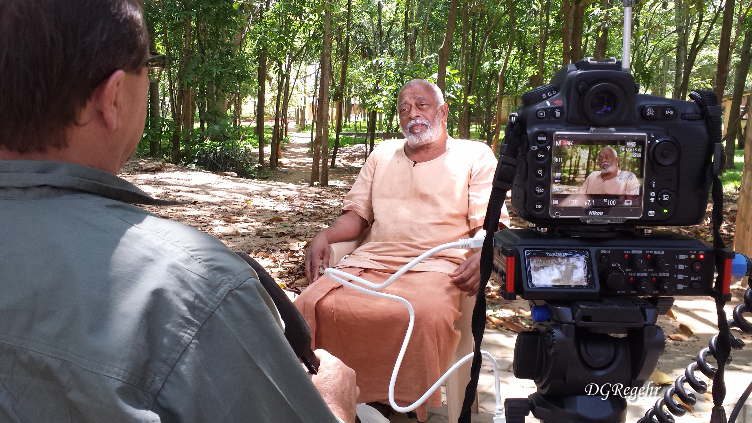 Interviewing a slow-speaking Swami with the humidity zapping your battery power (image: supplied),