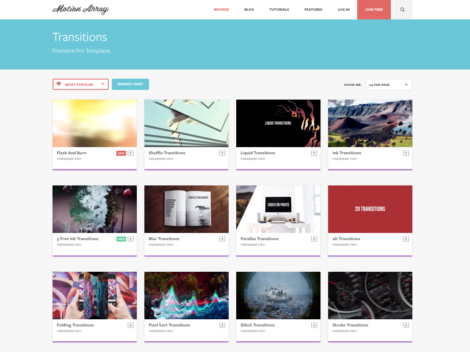 MOTION ARRAY – A MARKETPLACE FOR FILMMAKERS & CREATIVES
