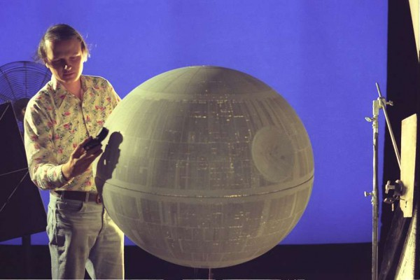 Dennis Muren prepares the Death Star for its close up (image: LucasFilm).