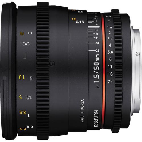 Rokinon 50mm Cine DSLR Lens